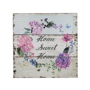 'How Sweet Home Flowers' Graphic Art Print on Wood by Ophelia & Co.