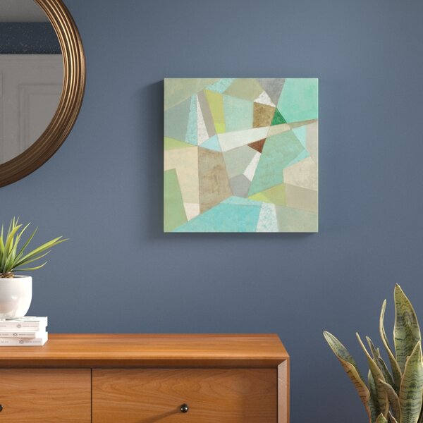 Spa Geo Metric Framed Wall Art on Wrapped Canvas by Langley Street
