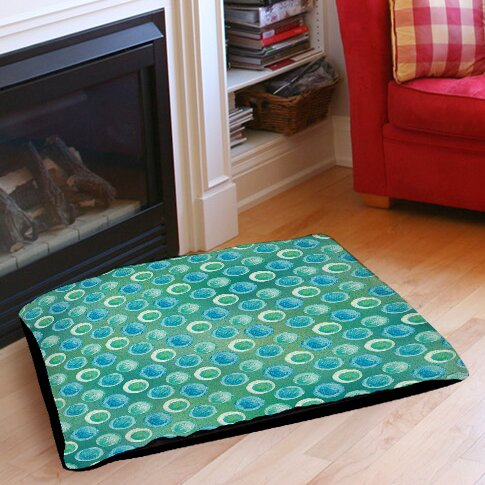 Aqua Bloom Dots Pet Bed by Manual Woodworkers & Weavers
