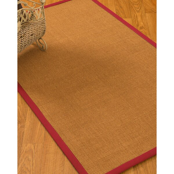 Kemmer Border Hand-Woven Brown/Red Area Rug by Bayou Breeze