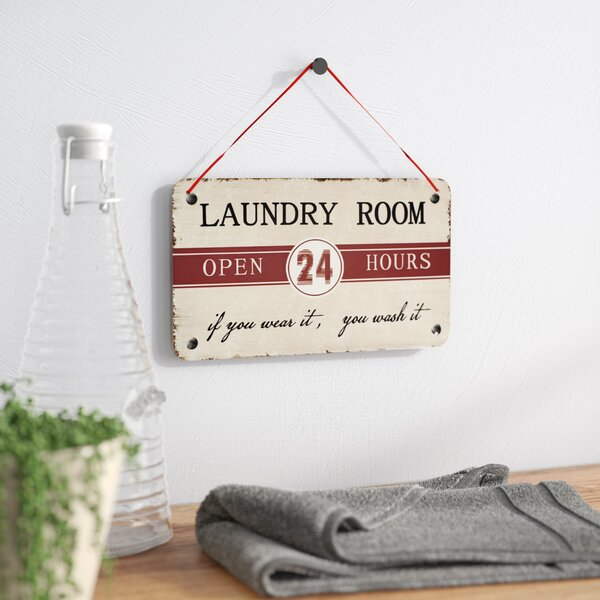 Laundry Room Antique Wisdom Sign Wall Décor by Winston Porter