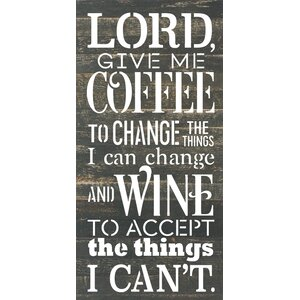 'Lord Give Me Coffee' by Rachel Anderson Textual Art on Plaque by Artistic Reflections
