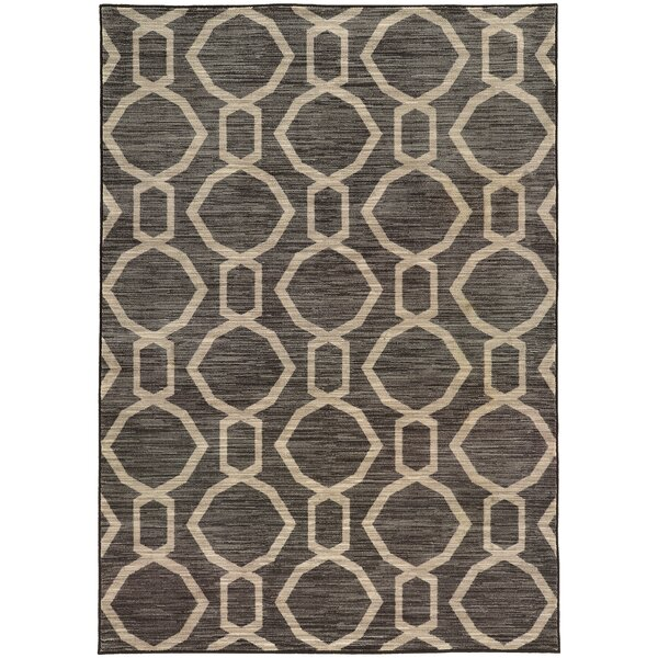 Reisman Geometric Grey/Beige Area Rug by Mercer41
