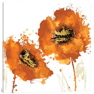 'Flower Burst I' Painting Print on Canvas by East Urban Home