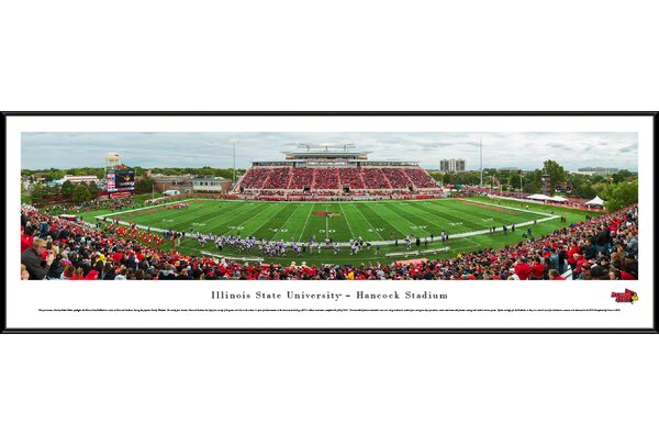 NCAA Illinois State U - Football by Robert Pettit Framed Photographic Print by Blakeway Worldwide Panoramas, Inc