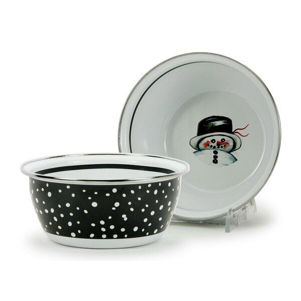 Ducan Snowman Salad Bowl (Set of 4) by Red Barrel Studio