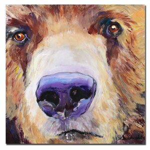 'The Sniffer' by Pat Saunders-White Framed Painting Print on Wrapped Canvas by Trademark Fine Art
