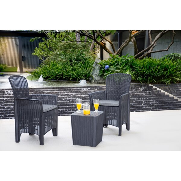 Bowbridge 3 Piece Seating Group with Cushions by Ebern Designs