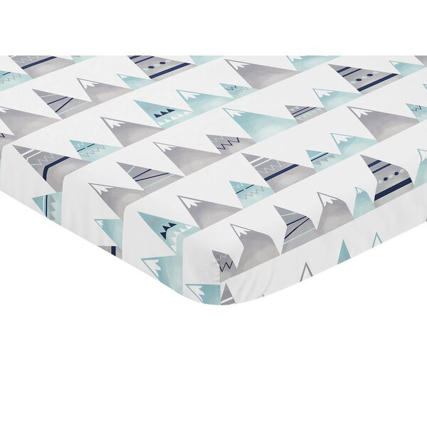 Mountains Mini Fitted Crib Sheet by Sweet Jojo Designs