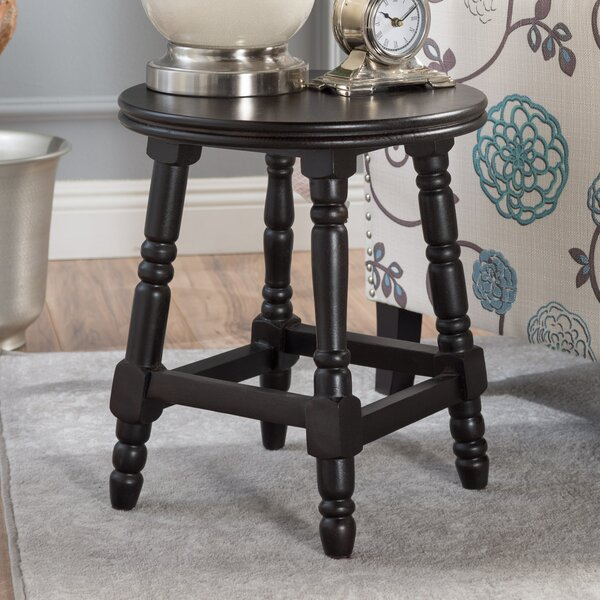 Lauterbach Wood Accent Stool by Charlton Home