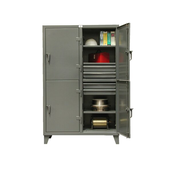 4 Tier 2 Wide Storage Locker by Strong Hold Products