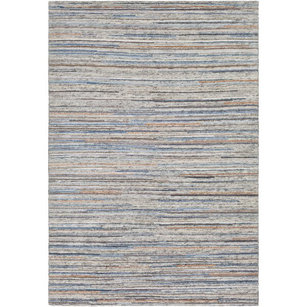 Bolger Hand-Knotted Ivory/Black Area Rug by Red Barrel Studio
