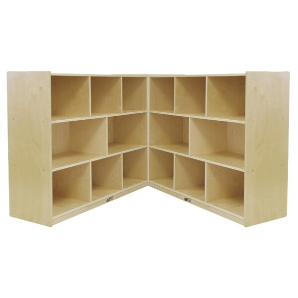 Folding 16 Comparment Cubby with Casters by ECR4kids