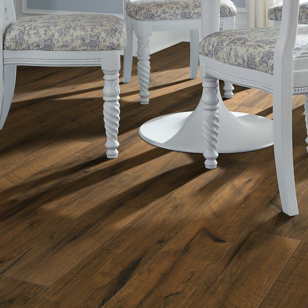 Milbank Hickory 5 x 51 12mm Laminate Flooring in Brown by Shaw Floors
