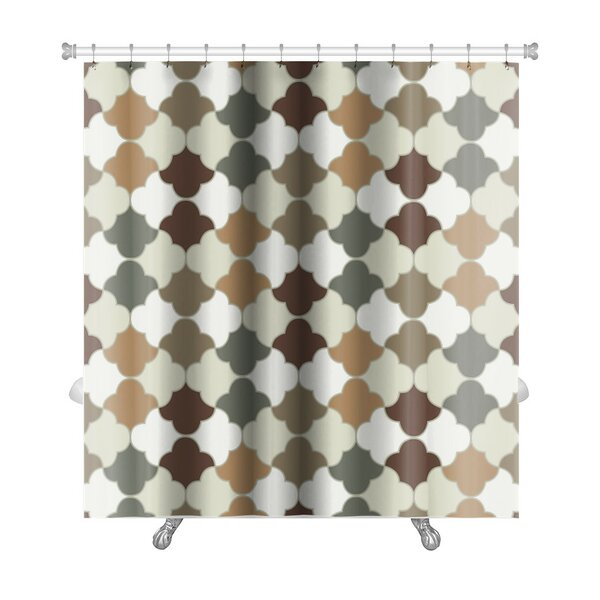 Gamma Islamic Tiles Premium Shower Curtain by Gear New