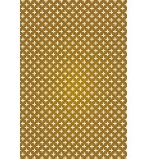 Mohammed Elegant Cross Design Brown/White Indoor/Outdoor Area Rug by George Oliver