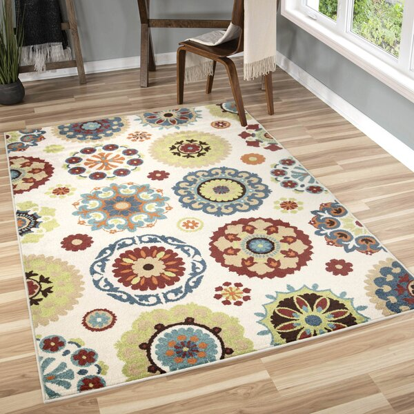 Maen Neutral Cream Area Rug By Latitude Run
