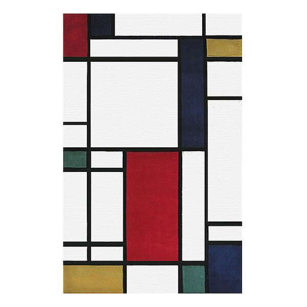 Modern Living Neo Metro Hand Tufted Red/Black Area Rug by American Home Rug Co.