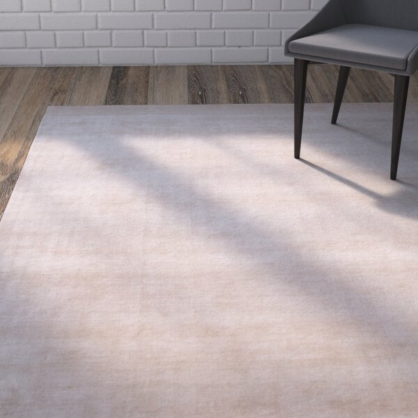 Morley Solid Ivory/White Rug by Ivy Bronx