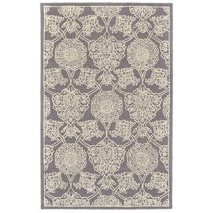 Griego Hand-Tufted Wool Dark Gray/Ivory Area Rug by Bungalow Rose