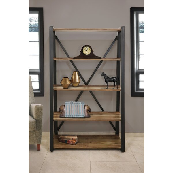 Stiner Wood Metal Etagere Bookcase By Millwood Pines