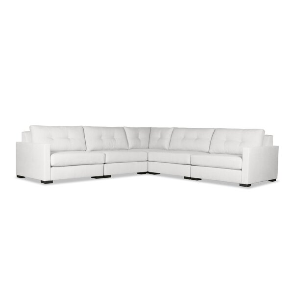 Secrest Buttoned Right And Left Arms L-Shape Standard Modular Sectional By Brayden Studio