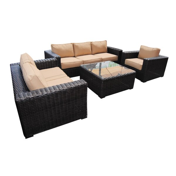 Santa Monica 4 Piece Sofa Set with Cushions by Teva Furniture