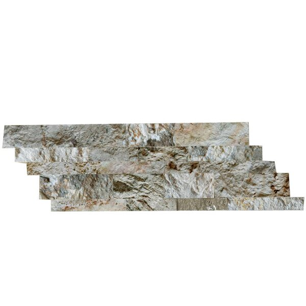 Natural Stone Mosaic Splitface Tile in Gray by QDI Surfaces