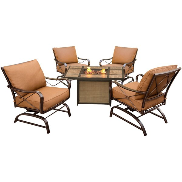 Eva 5 Piece Conversation Set with Cushions by Fleur De Lis Living