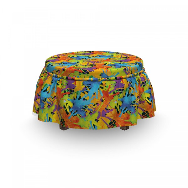 Splashes Funky Ottoman Slipcover (Set Of 2) By East Urban Home