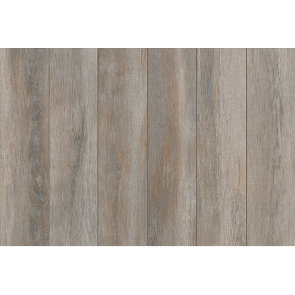 Stanbury Glazed 6 x 24 Porcelain Wood Look Tile in Stormy Gray by Mohawk Flooring