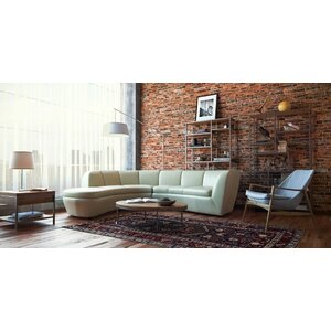 Filander Top Grain Contemporary Modular Sectional by Orren Ellis