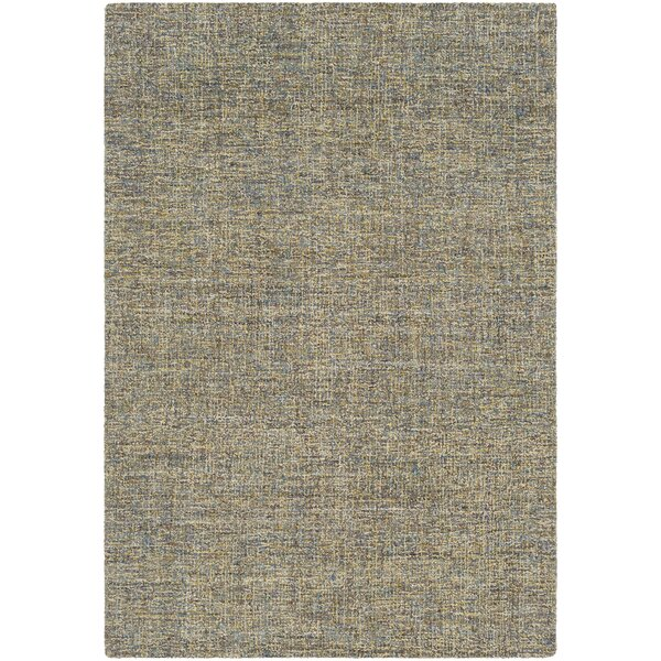 Charboneau Hand-Tufted Moss Green/Light Blue Area Rug by George Oliver