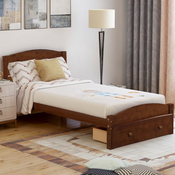 Aariz Twin Storage Sleigh Bed by Winston Porter