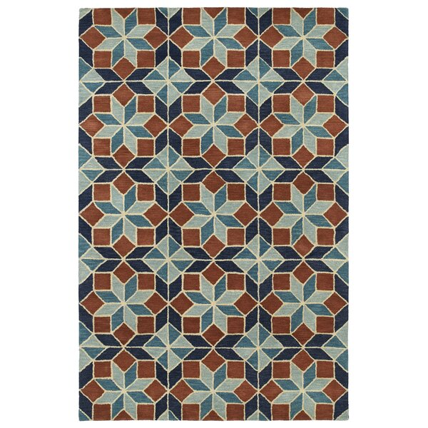 Dresden Hand Tufted Brown/Blue Area Rug by George Oliver