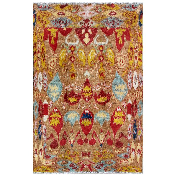 Moroccan Hand-Knotted Camel Area Rug by Pasargad