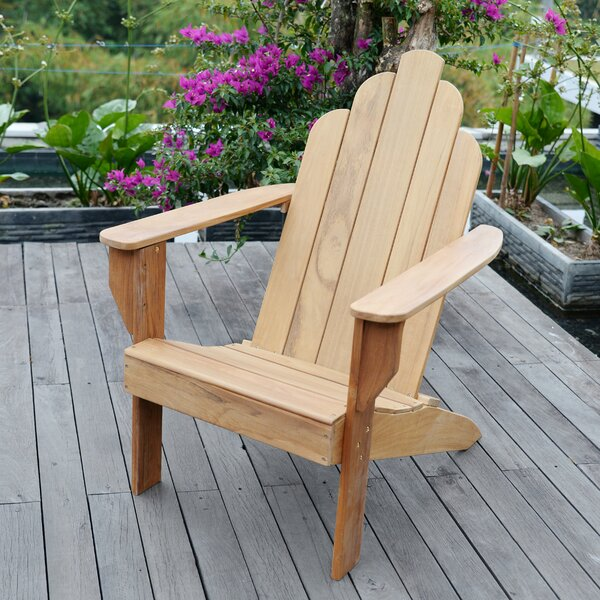 Cynthia Teak Adirondack Chair by Bayou Breeze Bayou Breeze
