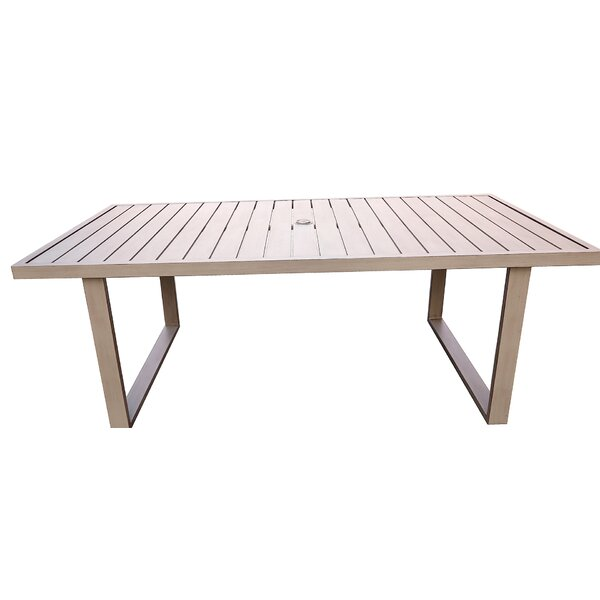 Otega Aluminum Dining Table by Orren Ellis