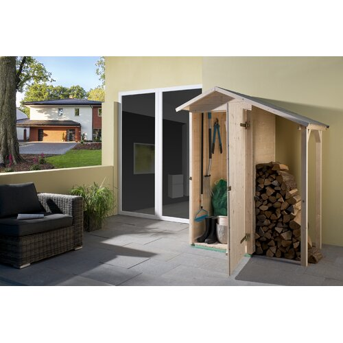 142 cm x 85 cm Werkzeugschuppen aus Massivholz Weka | Garten > Gerätehäuser | Weka