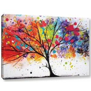 'Rainbow Tree II' Painting Print on Canvas by Latitude Run