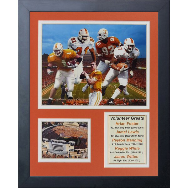 Tennessee Volunteers Greats Framed Photographic Print by Legends Never Die