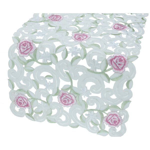 Dainty Rose Table Runner by Xia Home Fashions