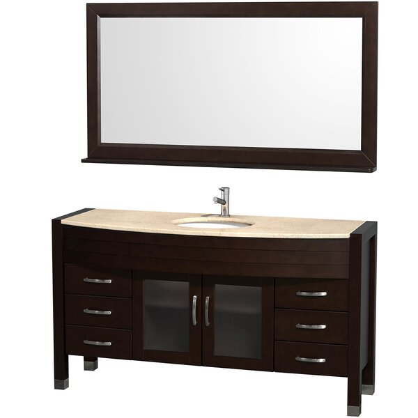 Daytona 60 Single Espresso Bathroom Vanity Set with Mirror by Wyndham Collection