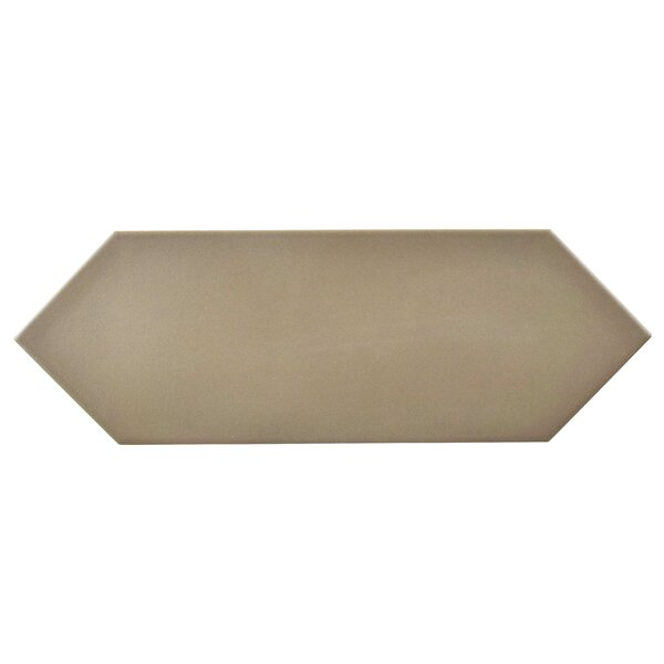 Volant 4 x 11.75 Porcelain Field Tile in Taupe by EliteTile