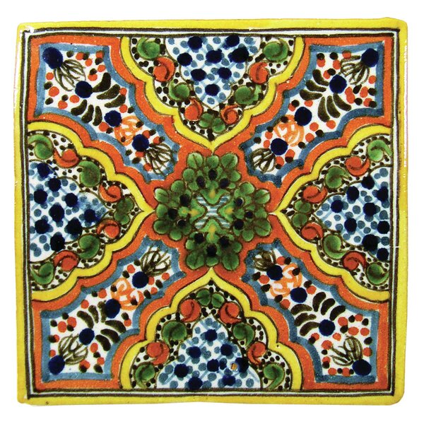 Apricot Hand Painted Tile - 4x4 Tile by Native Trails, Inc.