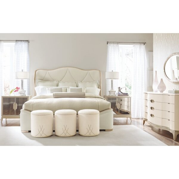 Adela Diamond Quilted Upholstered Sleigh Bed by Caracole Compositions