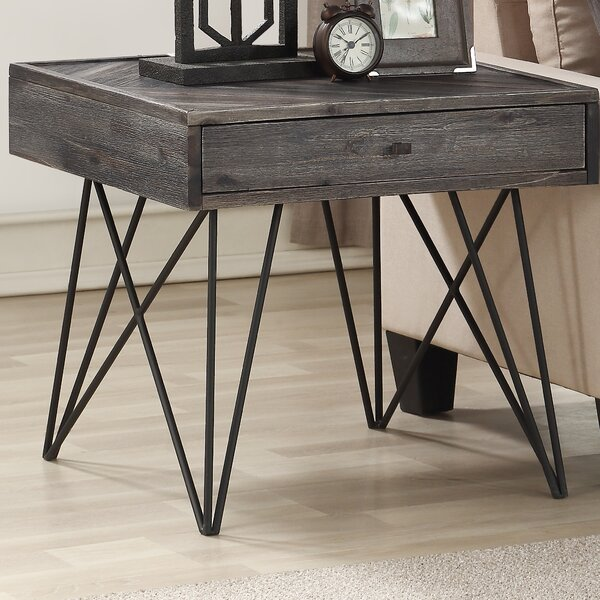 Kamille End Table with Storage by Foundry Select Foundry Select