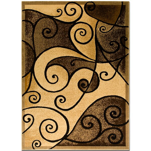 Brown/Beige Area Rug by AllStar Rugs
