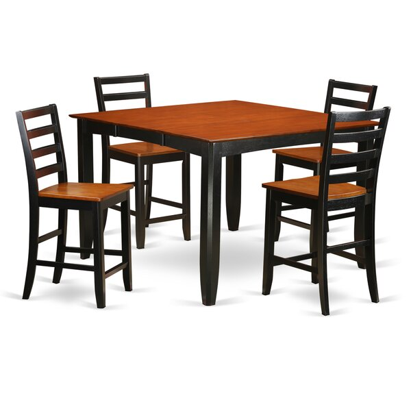 Parfait 5 Piece Counter Height Dining Set by Wooden Importers