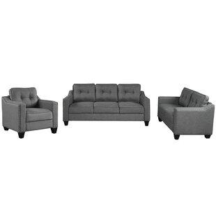 Donshae 3 Piece Living Room Set by Red Barrel Studio®